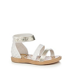 Ipanema - Girls' white quilted owl print sandals
