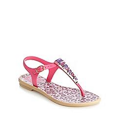 Ipanema - Girls' pink stone animal print sandals