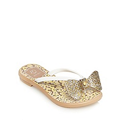Grendha - Girls' gold flip flops