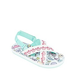 Animal - Girls' light green under the sea scene print sandals