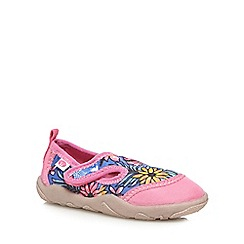 Animal - Girls' pink floral print rip tape shoes