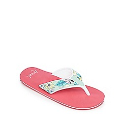 Animal - Girls' pink floral print flip flops