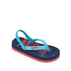 Animal - Boys' navy flip flops