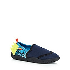 Animal - Boys' navy skull print slip-on shoes