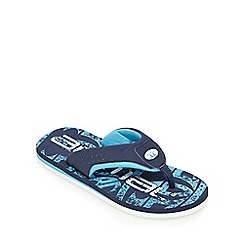 Animal - Boys' navy logo print flip flops