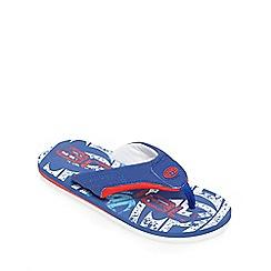 Animal - Boys' blue logo print flip flops