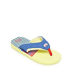 Animal - Boys' yellow logo flip flops