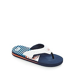 Animal - Boys' blue logo flip flops
