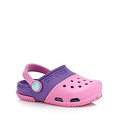 Crocs - Girls' pink and purple sandals