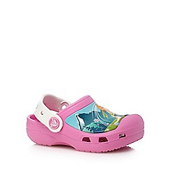 Crocs - Girls' pink and white 'Frozen' printed sandals