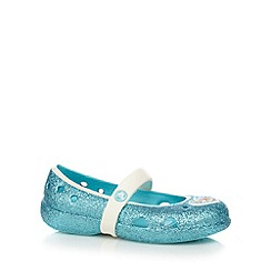Crocs - Girls' blue glitter 'Frozen' sandals