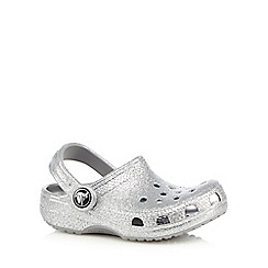 Crocs - Girls' silver sparkling sandals