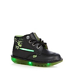Kickers - Boys' black 'Star Wars' lightsabre boots