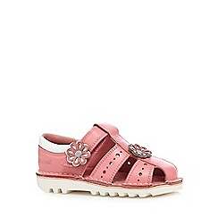 Kickers - Girls' light pink leather sandals