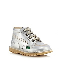 Kickers - Girls' silver ankle boots