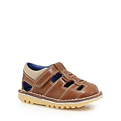 Kickers - Boys' brown leather sandals