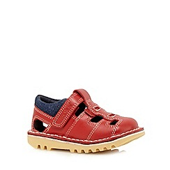 Kickers - Boys' red leather sandals
