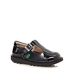 Kickers - Girls' black patent strap shoes