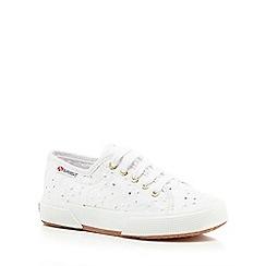 Superga - Girls' white lace up shoes