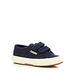 Superga - Navy rip tape trainers