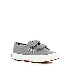 Superga - Grey rip tape trainers