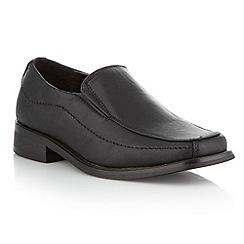 bluezoo - Boy's black smart loafers