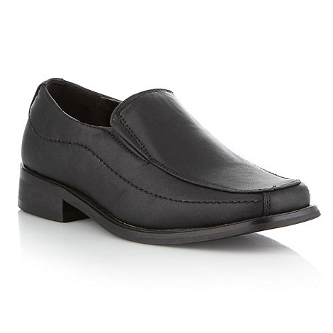 bluezoo - Boy+s black smart loafers
