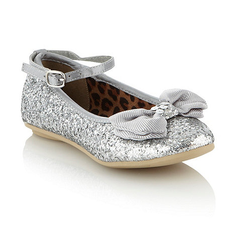 bluezoo - Girl+s silver glitter party shoes