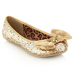 bluezoo - Girl's gold glitter bow pumps