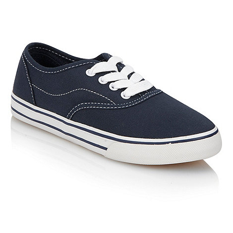 bluezoo - Boy+s navy canvas trainers