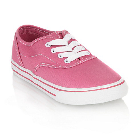 bluezoo - Girl+s pink canvas trainers