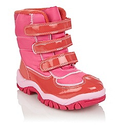 bluezoo - Girl's pink fleece lined snow boots