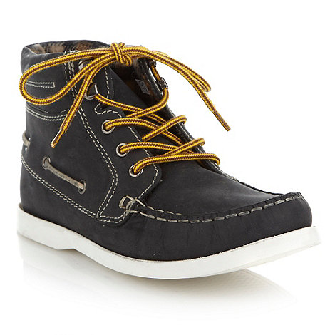 bluezoo - Boy+s navy suede boat boots