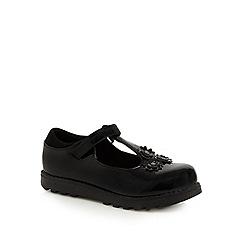 Debenhams - Girls' patent flower applique school shoes