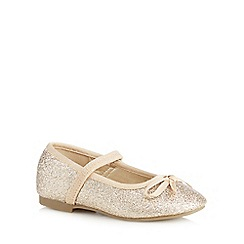 bluezoo - Girls' gold glitter party pumps