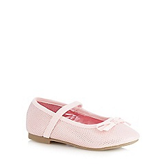 bluezoo - Girls' pink glitter slip-on shoes