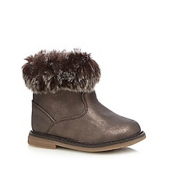 bluezoo - Girls' brown faux fur ankle boots