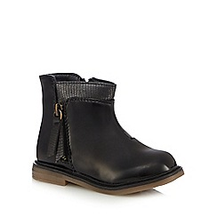 bluezoo - Girls' black side zip ankle boots
