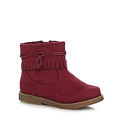 Mantaray - Girls' dark red tassel ankle boots