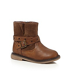 Mantaray - Brown strap ankle pirate boots