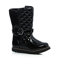 bluezoo - Girls' black quilted boots