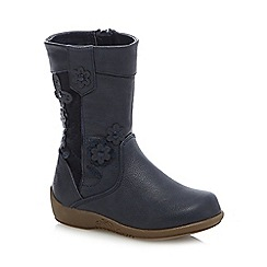bluezoo - Girls' navy applique boots