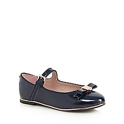 Baker by Ted Baker - Girls' navy patent slip-on shoes
