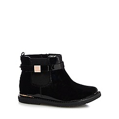 Baker by Ted Baker - Girls' black patent ankle boots