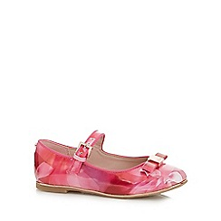 Baker by Ted Baker - Girls' pink graphic print bow applique shoes