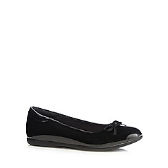 Debenhams - Girls' black patent slip-on shoes