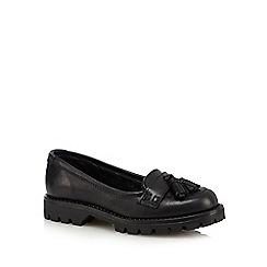 Debenhams - Black leather tasselled shoes