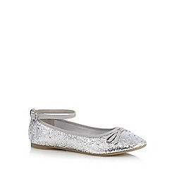 bluezoo - Girls' silver glitter slip-on shoes