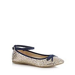 bluezoo - Girls' gold glitter slip-on shoes