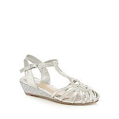bluezoo - Girls' silver knotted strap sandals